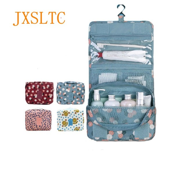 Portable Bathroom Hanging Organizer Toiletry Bag Waterproof Makeup Storage Bag Travels Cosmetic Cases Wash Bag Shower Pouch