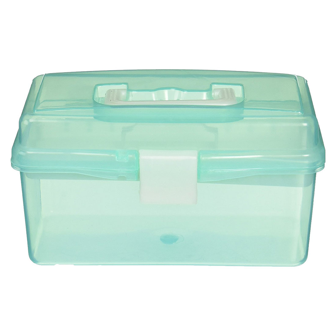 BLEL Hot Clear Turquoise Plastic Tray 2 Compartment Tool Storage Box Case magnet 2 compartment pp storage box