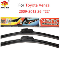 YOUEN Combo Front And Rear Wiper Blades For Toyota Venza 2009 2013 Windscreen Rubbers Wiper Blades