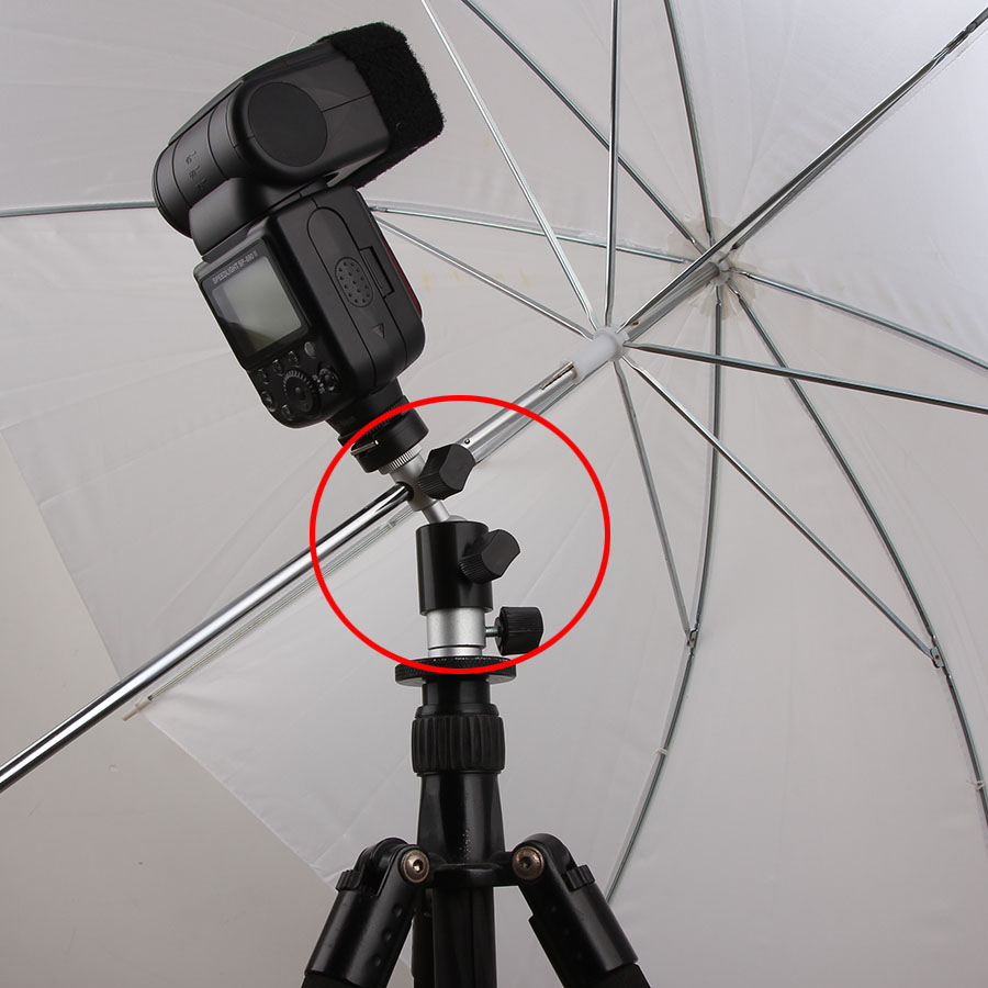 Camera Flash Light Mount Bracket Flash Stand Hot Shoe Adapter with Ball Head Umbrella Holder Photo Studio Accessories (D)
