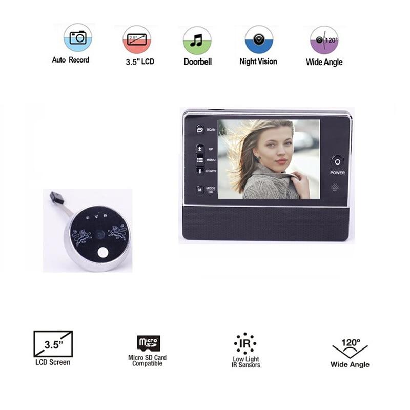 Digital 3.5inch LCD 3X Zoom IR Night Vision 32 Rings Support Video+Photos Spanish Menu 2 ...