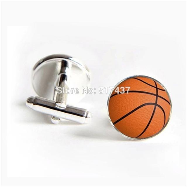 Basketball Cufflinks Cuff Link Glass Jewelry Shirt Men's