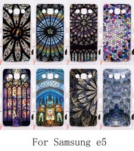 HOT!Back Housing For Samsung Galaxy E5 E500 SM-E500F E500H Cases New Styles Plastic and Silicon Skin Cover Amazing Church Roof