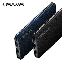 USAMS Ultra Slim 10000mAh Power Bank Power Bank For Xiaomi For IPhone 6 7 Samsung Mobile