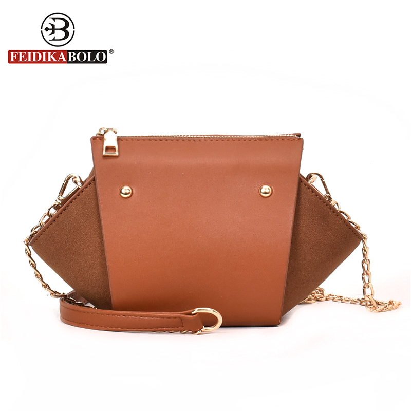 FEIDIKABOLO Brand Desiger Crossbody Bags For Women High Quality Pu Leather Trapeze Casual Fashion Lady Crossbody bags New 2018