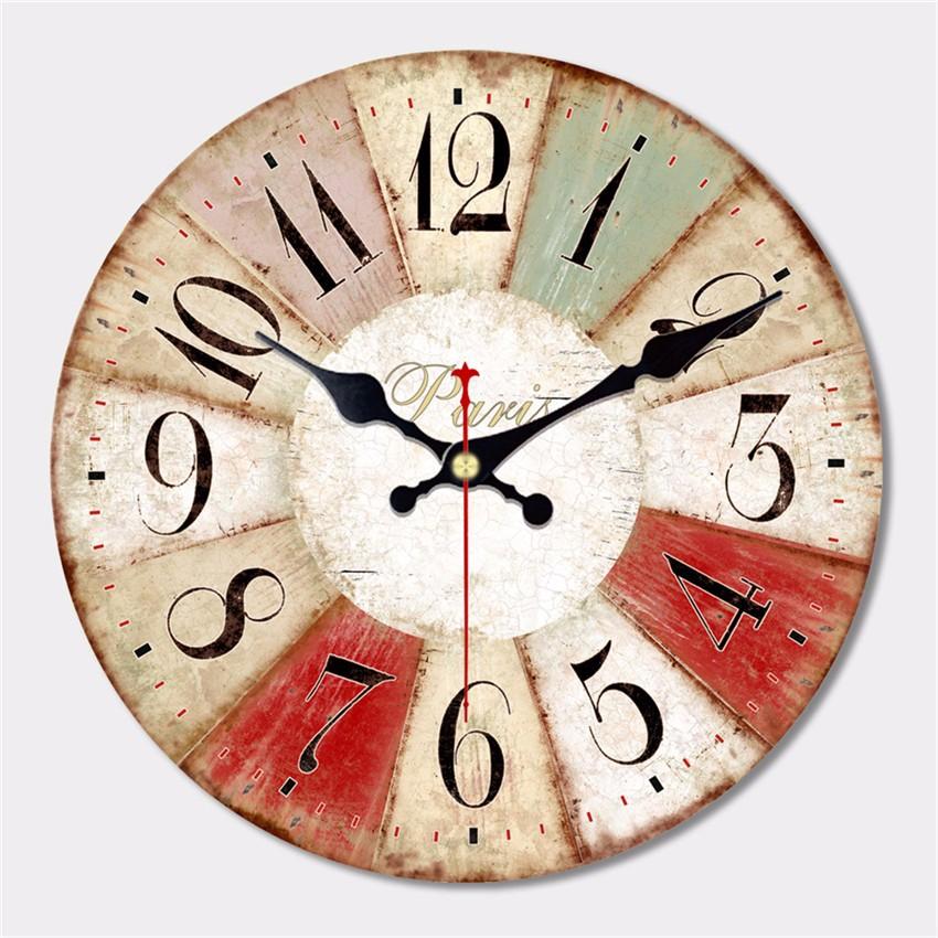a34338fede US $13.66 41% di SCONTO|Grande Orologio Da Parete Antico Disegno Silenzioso  Soggiorno Horloge Murale Decorazione della Casa Dell'orologio di Parete ...