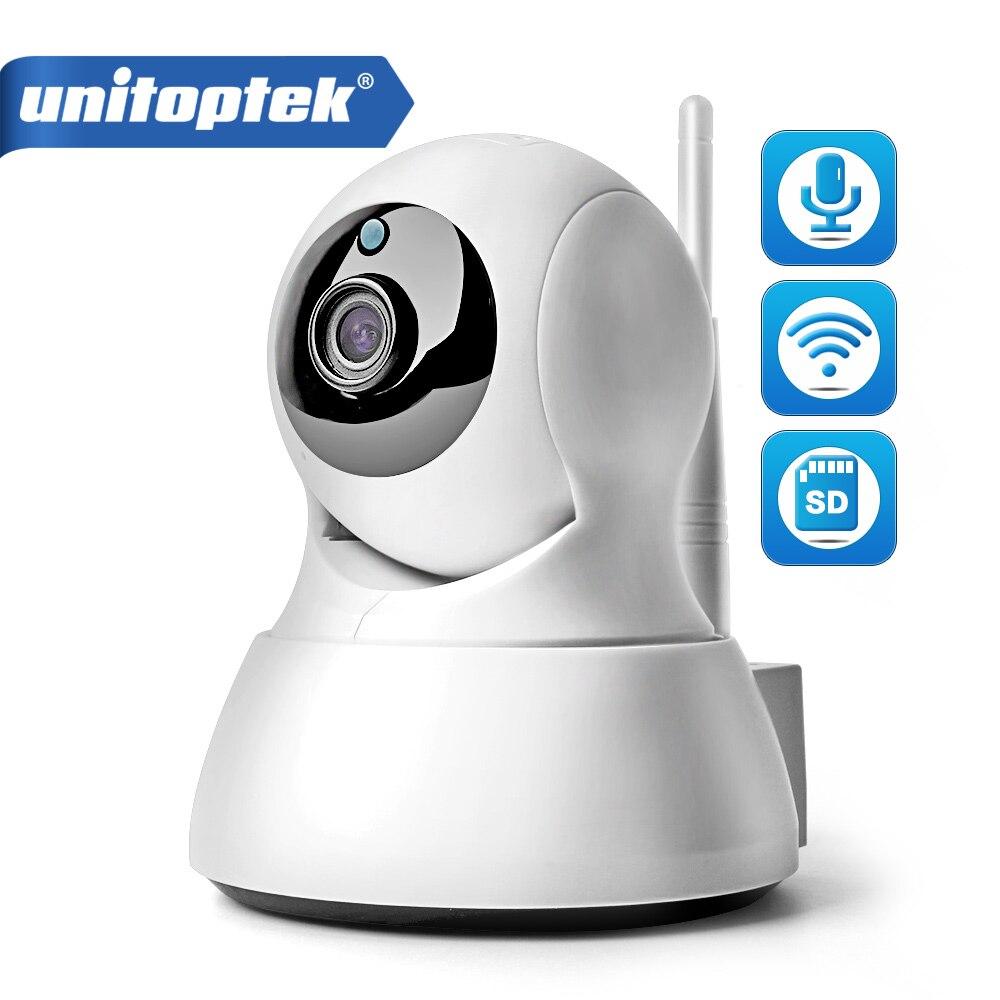купить 1.0MP WIFI IP Camera Wireless IR-Cut Night Vision Two Way Audio HD 720P PTZ CCTV Surveillance Camera P2P Cloud Mobile APP View по цене 1288.55 рублей