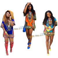 Wholesale Free Size 2015 New Fashion Design Traditional African Clothing Print 100 Cotton Dashiki T Shirt