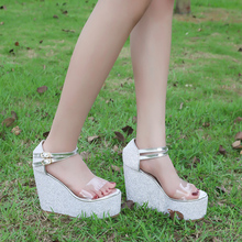 SEXY SUPER HIGH HEEL WOMEN'S SANDALS LADY/GIRL Trifle  Ankle Strop Platform Wedge  HY18