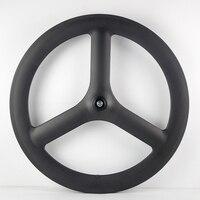 3 spoke carbon wheel Tri Spoke Wheels Tubular fixed gear wheelset china bicycle Wheels hot sale
