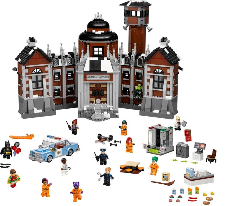 1628pcs Batman Movie Series THe Arkham`s Lunatic Asylum Set Building Blocks Bricks Toys <font><b>70912</b></font> image