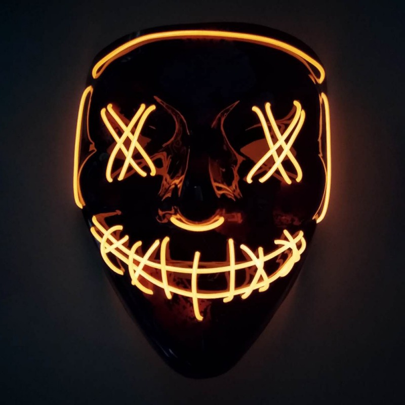 Halloween LED Mask Purge Masks Election Mascara Costume DJ Party Light Up Masks Glow In Dark 10 Colors To Choose in Party Masks from Home Garden