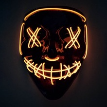 Stylish Unique Portable Halloween Fluorescent Fake Glow Party Special Plastic Cool Mask