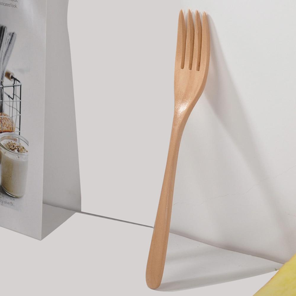 Houten Lepel Vork Bamboe Keuken Kookgerei Gereedschap Soep-theelepel Servies Draagbare Servies Vork Voor Keuken Bar Redelijke Prijs