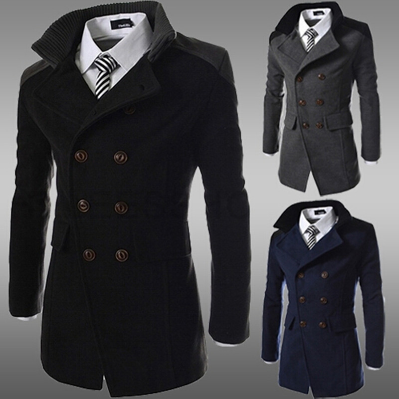 Online Get Cheap Mens Wool Trench Coat Double Breasted -Aliexpress ...