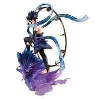 Anime Action Figure NARUTO Uzumaki Naruto Uchiha Sasuke Wind Ver Model 18cm PVC Fighting Gift Doll