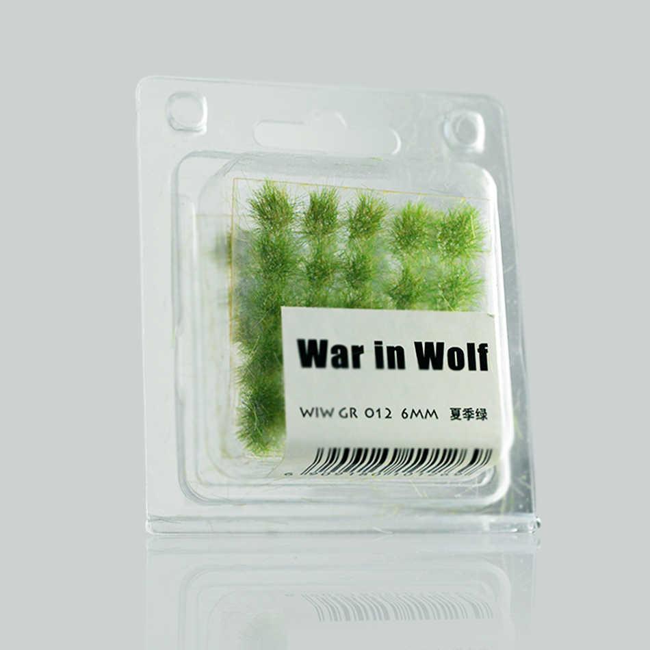 60 sztuk w pudełku architektura skala model trawa Tuft trawa igła trawa krzewy materiały budowlane