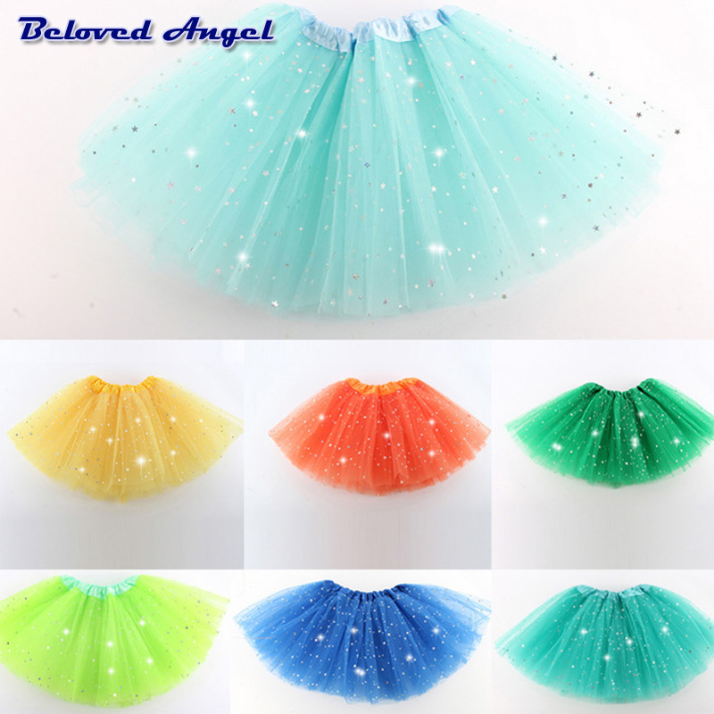 Fluffy Chiffon Tulle Tutu Skirt Colorful Cheap Girl Skirt Dance Skirt Baby Girl Clothes Kids Clothing Birthday Gift Party Wear