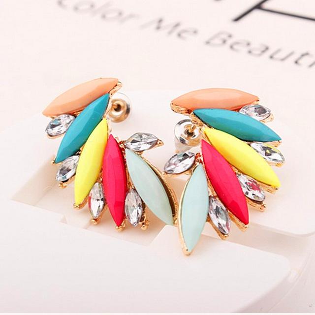 Large Angel Wing Earrings Studs