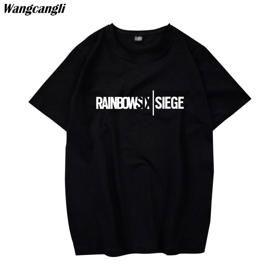 Rainbow Six Assedio t-shirt Tom Clancy Stampa Disegno Originale Stile di Modo Casuale mens t shirt moda 2018 Cotone T-Shirt uomo