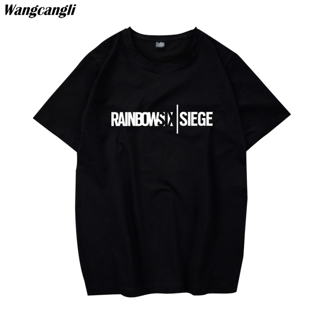 Rainbow Six Siege t shirt Tom Clancy Print Original Design Fashion Style Casual mens t shirts fashion 2018 Cotton T shirt men-in T-Shirts from Men ...