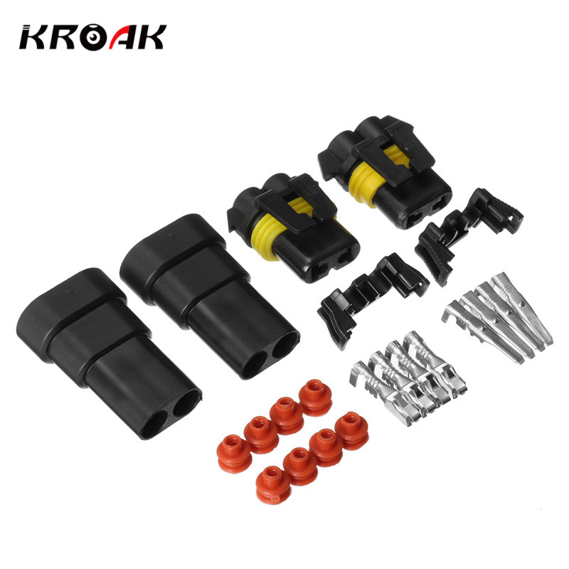 2Set 9005 9006 Female Male Wire Connectors For HID Plug Socket Adaptor Joint Head HB4 HB3 In Cables Adapters Sockets From Automobiles Motorcycles On