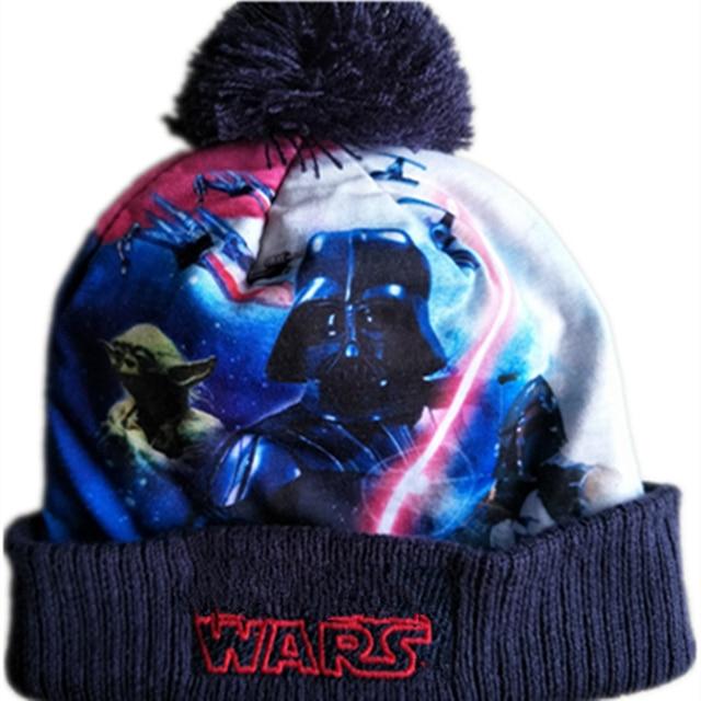 9d629e103b6 New 3D print Wars Hero Darth Vader Stormtrooper Yoda Knitted Caps Cartoon  Mask Beanies Winter Warm