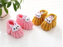 2016 cartoon newborn Shoes Infants Crochet Knit Fleece Boots Toddler Girl Boy  Baby Wool Crib Shoes Winter Booties first walkers