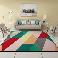 Geometric Carpet For Living Room Parlor Carpets Anti-slip Floor Mat Fashion Large Rug Area Rugs Home Deraction
