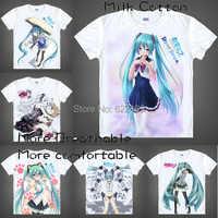 2015 Vocaloid 2 Hatsune Miku Rin Len T Shirt Cosplay kostiumy mężczyzna japoński znane Anime koszulka unikalny prezent koszulki Masculina
