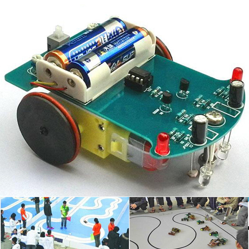 D2 1 DIY Kit Intelligent Tracking Line Smart Car Kit Suite TT Motor Electronic Production Smart