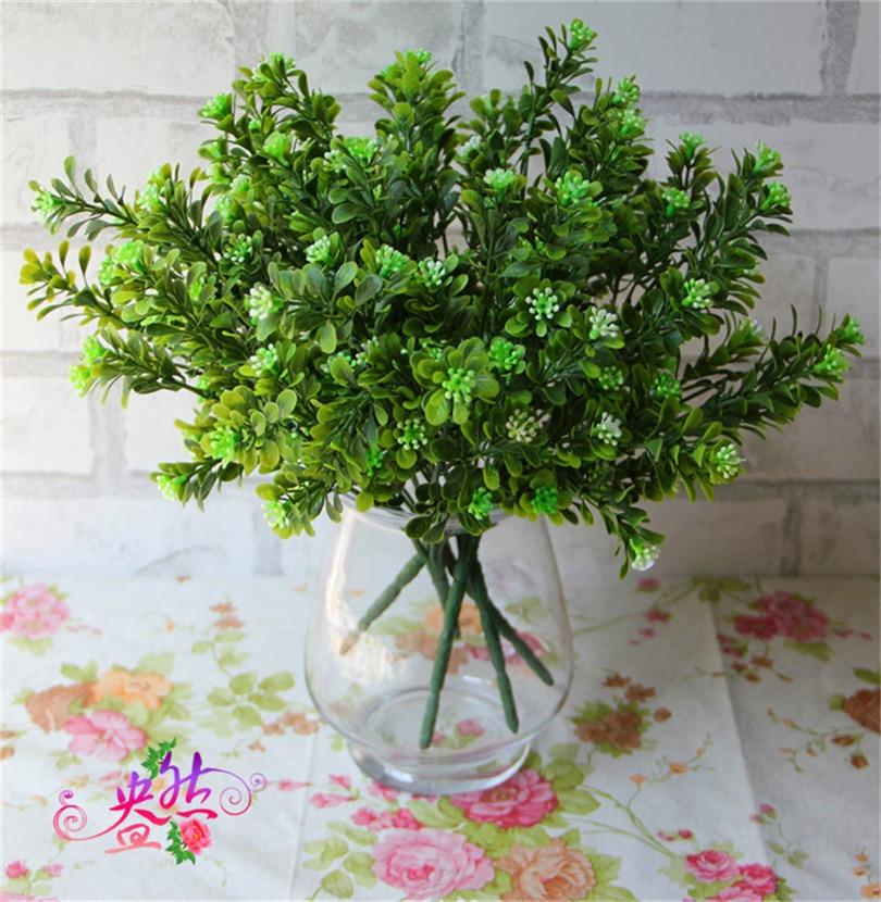 Kunststoff grün 5 stücke künstliche pflanze milan grüne gras pflanzen für haus dekorative blume diy blumengesteck
