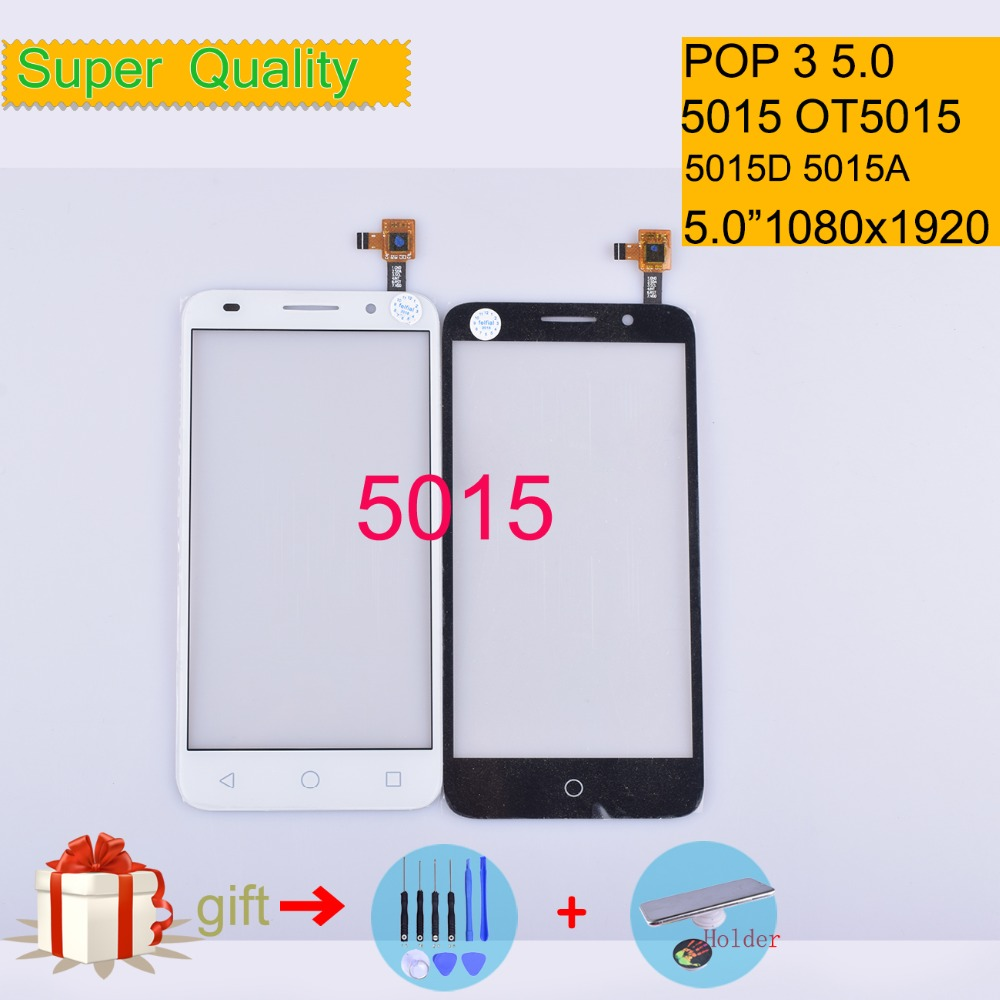 For Alcatel One Touch POP 3 5.0 5015D 5015A 5015X OT5015 5015 Touch Screen Touch Panel Sensor Digitizer Front Glass Touchscreen
