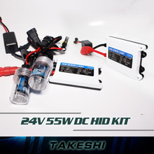 1set DC Xenon HID Kit Car Headlight Slim Ballast 55W 24V Single Beam H1 H3 H4-1 H8/9/11 9005 9006 880 881 Bulb 3000K~30000K