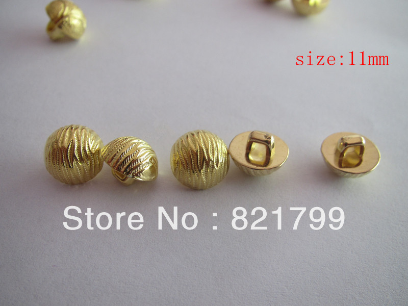 Buttons ABS Plastic button garment button planting golden buttons 10.16mm