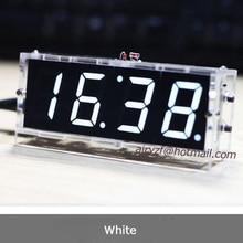 Лидер продаж 2016 года DIY 4 цифры электронный Большой Экран светодиодные часы комплект красный/синий/зеленый 4 цвета LED Kit с случае