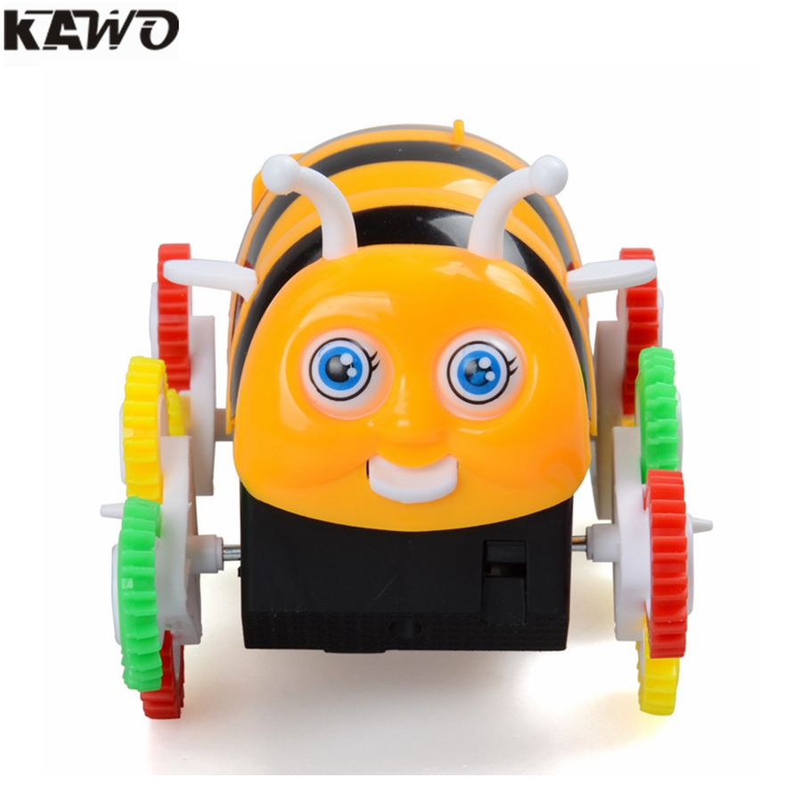 kawo new arrival children s electric toys stunt cars little bee tumbler colorful orignal box