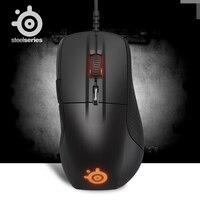 Оригинальный SteelSeries Rival 700 игровая мышь Мыши Компьютерные USB Проводная 6500 dpi оптическая мышь Black Edition для FPS RTS MMO LOL Gamer дешево