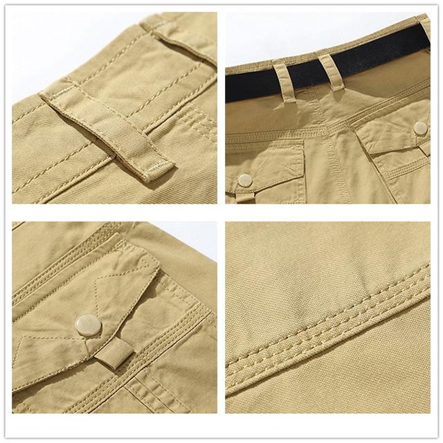 Fashion Mens Military Knee Length Short Pockets