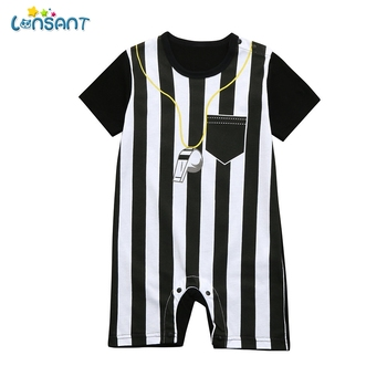 Hot Selling Newborn Toddler Baby Boys Referee Romper Jumpsuits