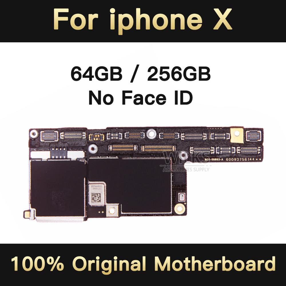 No icloud For <font><b>iPhone</b></font> <font><b>X</b></font> 64GB/256GB <font><b>Motherboard</b></font> Without <font><b>Face</b></font> <font><b>ID</b></font>,<font><b>Unlocked</b></font> For <font><b>iPhone</b></font> <font><b>X</b></font> Logic Board Mainboard <font><b>With</b></font> IOS System image