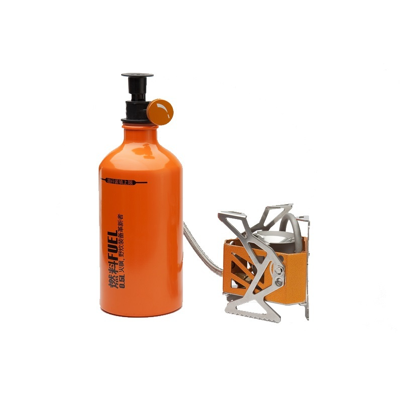 Fire Maple Engine Light Weight Outdoor BBQ Camping Split Oil Petrol Fuel Stove with 0.5L Fuel Bottle Picnic Equipment Set FMS-F3