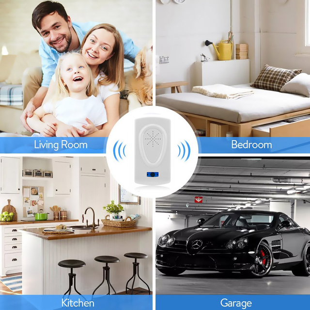 Ultrasonic Pest Control Pest Repeller Rodent Insect Repellent Anti Moles Mosquito Killer Mouse Cockroach Rat Pill Bugs Reject