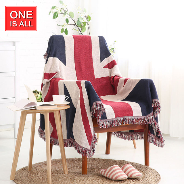 Uk British Flag Throw Turkish Sofa Blanket Kilim Wall Hanging Carpet Rugs Cotton