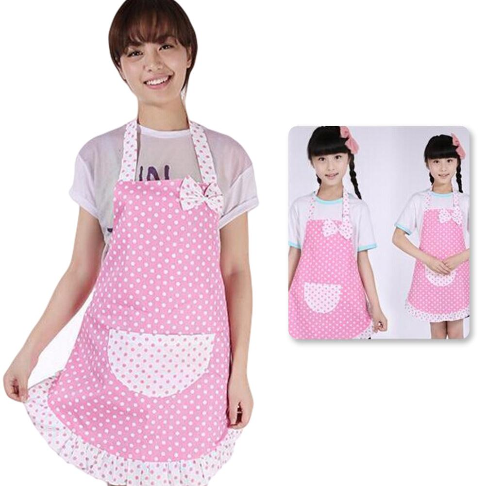 1Pc Women Dots Cotton Sleeveless Kids Kitchen Cooking ...