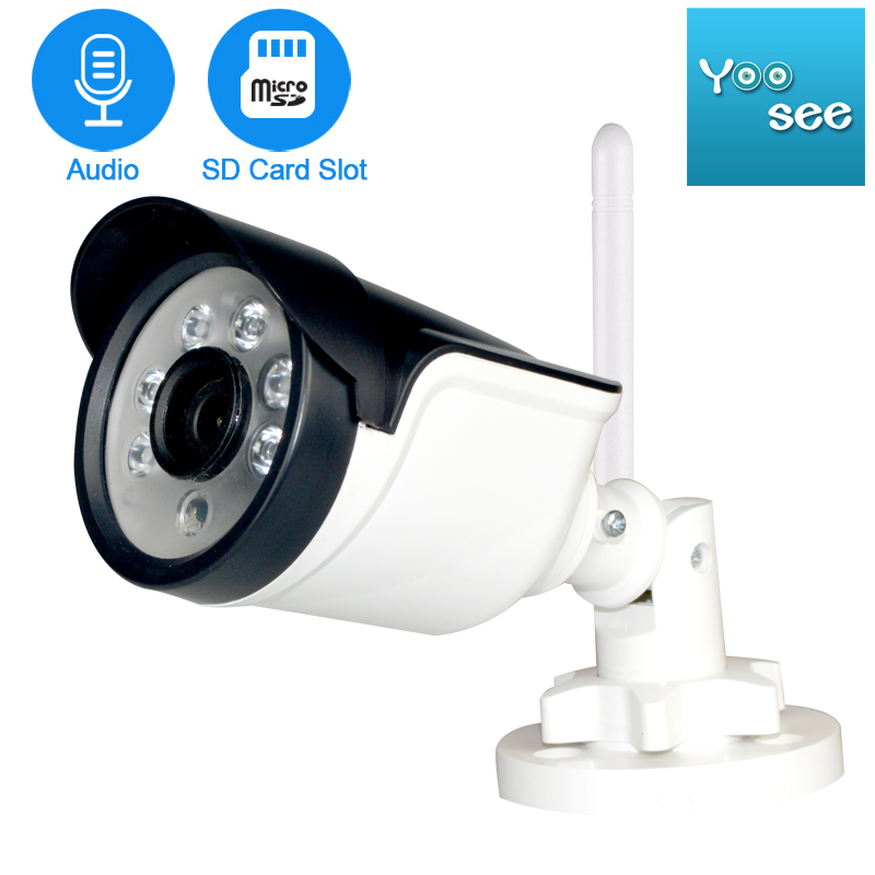 P2P ONVIF With SD Card Slot Wireless IP Camera Outdoor 1080P Email Alert Motion Detect CCTV Surveillance Camera IP Wifi 720P