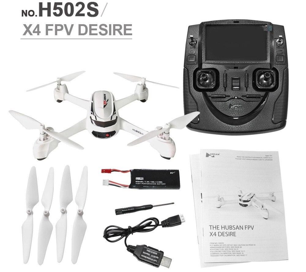 Hubsan X4 H502S RC Drone 5,8G GPS FPV altitud modo RC Quadcopter con HD 720 P Cámara una retorno clave con Control remoto inteligente