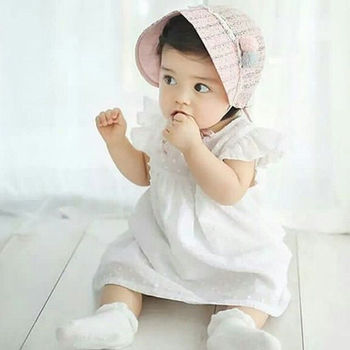 Pudcoco White Tutu Princess Baby Dress Toddler Infant Baby Girls Short Sleeves Dresses Summer  Praty Birthday Holiday Dress 1