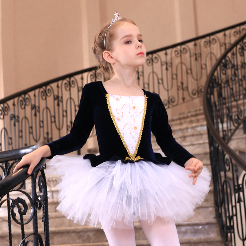 2de3ad469 Sequins Velvet Children Ballet Costume Dancewear Women Ballet ...