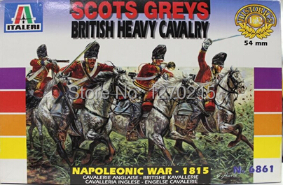 Out of print product! Italeri model 6861 1/32 Scots Greys - British Heavy Cavalry 54mm plastic model kit
